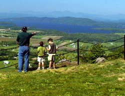 Scenic overlook, Mount Philo State Park