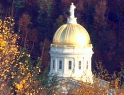 Autumn surrounds the Statehouse, Montpelier